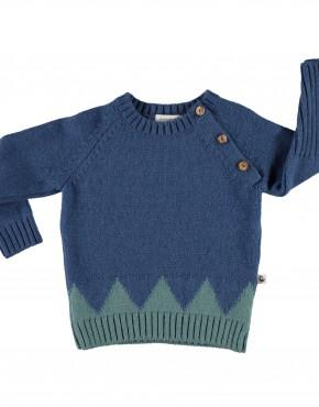 Knitted sweater triangles_Emerald_piupiuchick_a
